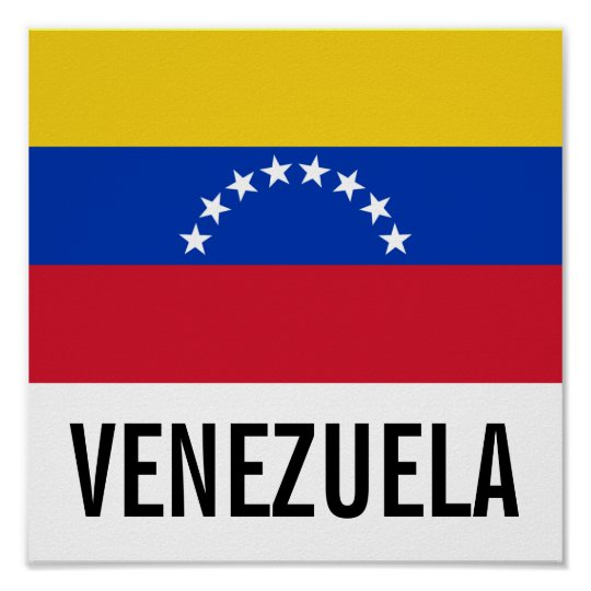 Venezuela National Flag Poster