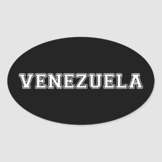 Venezuela Oval Sticker