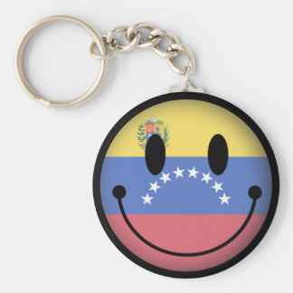 Venezuela Smiley Keychain