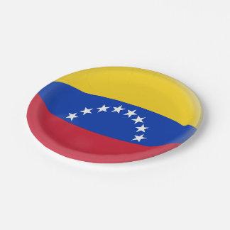 Venezuela Venezuelan Flag Paper Plate
