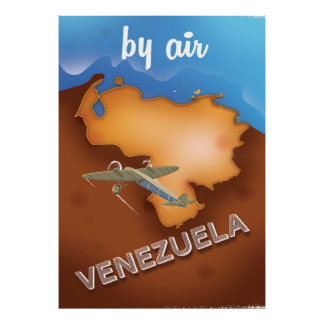 venezuela vintage travel poster