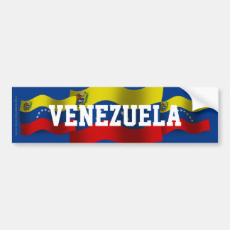 Venezuela Waving Flag Bumper Sticker