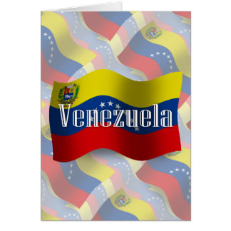 Venezuela Waving Flag Card
