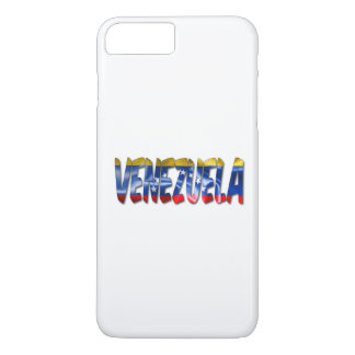 Venezuela Word With Flag Texture iPhone 7 Case