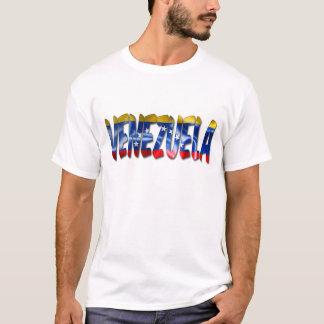 Venezuela Word With Flag Texture Men's T-Shirt