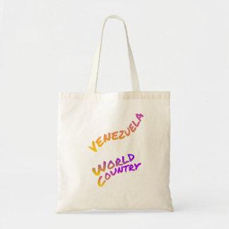 Venezuela world country, colorful text art