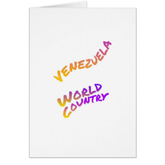 Venezuela world country, colorful text art card