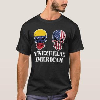 Venezuelan American Flag Skulls T-Shirt