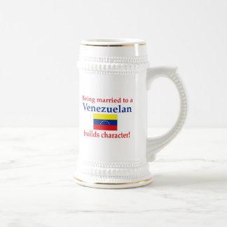 Venezuelan Builds  Character 18 Oz Beer Stein