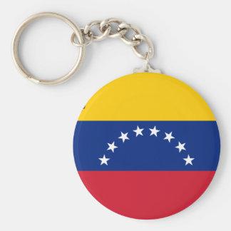 Venezuelan Flag - Flag of Venezuela - Bandera Basic Round Button Keychain