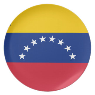 Venezuelan Flag - Flag of Venezuela - Bandera Party Plate