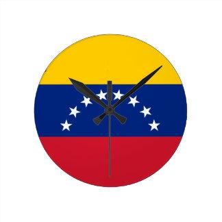 Venezuelan Flag - Flag of Venezuela - Bandera Round Clock