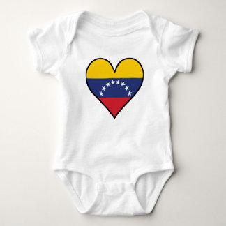 Venezuelan Flag Heart Baby Bodysuit