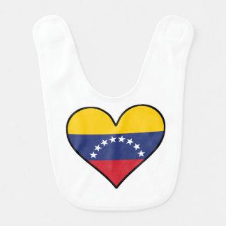 Venezuelan Flag Heart Bib