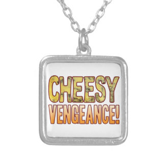 Vengeance Blue Cheesy Silver Plated Necklace