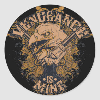 Vengeance Eagle Classic Round Sticker