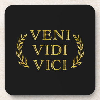 Veni Vidi Vici Funny Game Winner Coaster