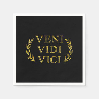 Veni Vidi Vici Funny Game Winner Napkin