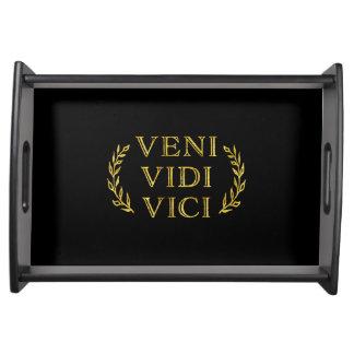 Veni Vidi Vici Funny Game Winner Serving Tray