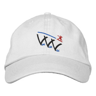 veni vidi vici snowboarder embroidered hat