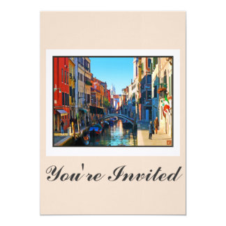 Venice Alley with Love Quote Card