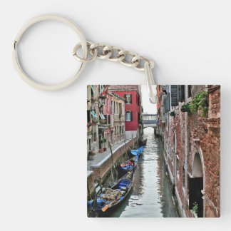 Venice Alleyway Single-Sided Square Acrylic Keychain