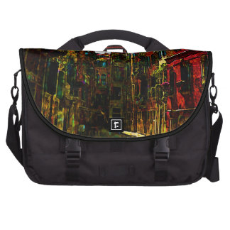 Venice Architecture Colorful Red Flowers Art Laptop Bags