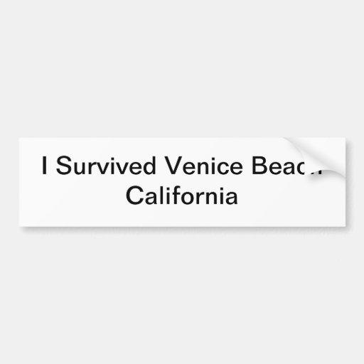 Venice Beach California Bumper Sticker