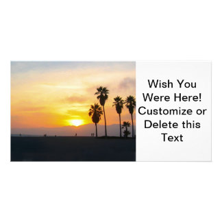 Venice Beach California Sunset Photo Greeting Card