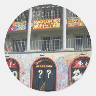 Venice Beach Freak Show Classic Round Sticker