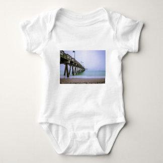 Venice Beach Pier on a Foggy Day Baby Bodysuit