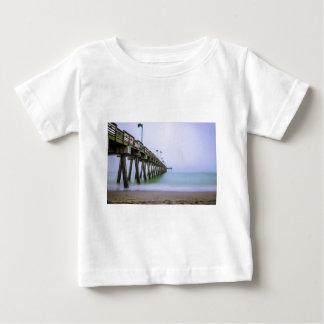 Venice Beach Pier on a Foggy Day Baby T-Shirt