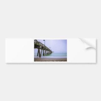 Venice Beach Pier on a Foggy Day Bumper Sticker