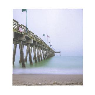 Venice Beach Pier on a Foggy Day Notepads