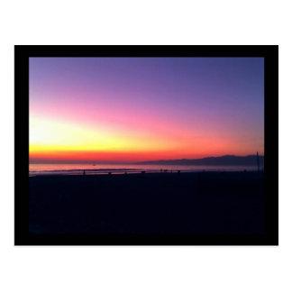Venice Beach Sunset Postcard