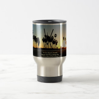 Venice Beach Sunset Travel Mug