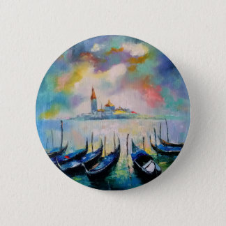 Venice before rain 2 inch round button