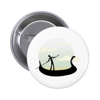 Venice Boat 2 Inch Round Button