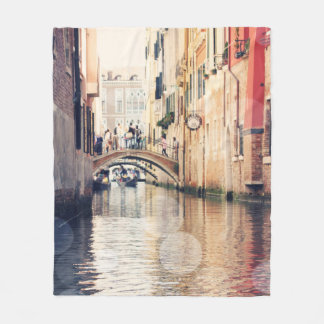 Venice Bokeh XIV Fleece Blanket