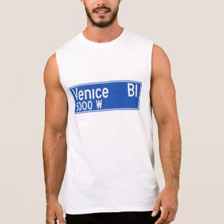 Venice Boulevard, Los Angeles, CA Street Sign Sleeveless Shirt