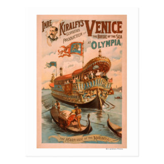 Venice, Bride of the Sea at Olympia Gondolas 3 Postcard