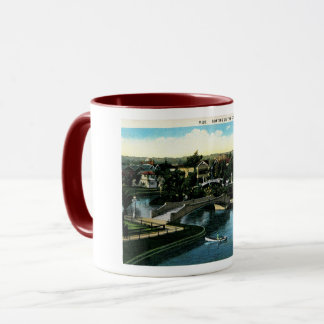 Venice, California, Boating on the Canal, Vintage Mug