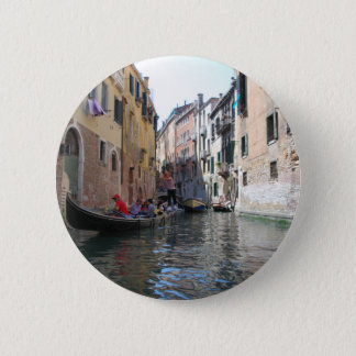 Venice canal 2 inch round button