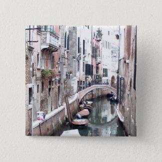 Venice canal 2 inch square button