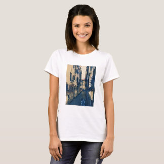 Venice Canal in Shades of Blue T-Shirt