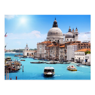 Venice Canal in the Summer Postcard