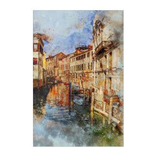 Venice canal italy acrylic wall art