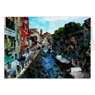 Venice Canal Italy Art Card