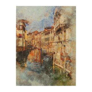 Venice canal italy wood wall art