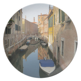 Venice Canal with Boats Dinner Plate